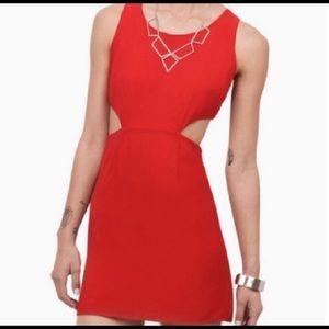 Tobi red mini dress